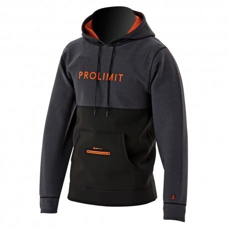 Veste néoprène Prolimit Loosefit Hoodie Black/Orange